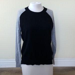 Aqua Cashmere black and gray pullover